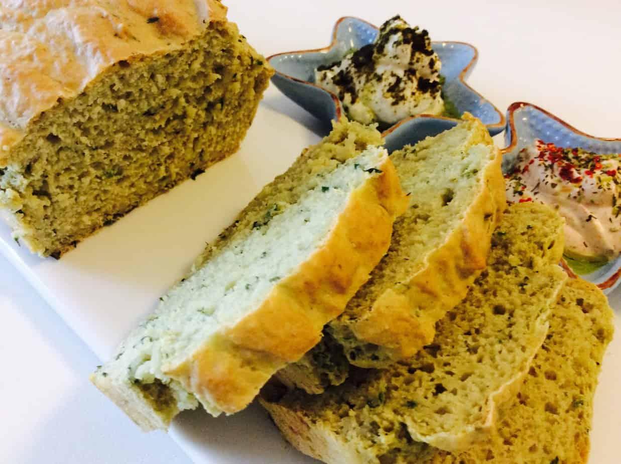 לחם ירקרק מהיר הכנה