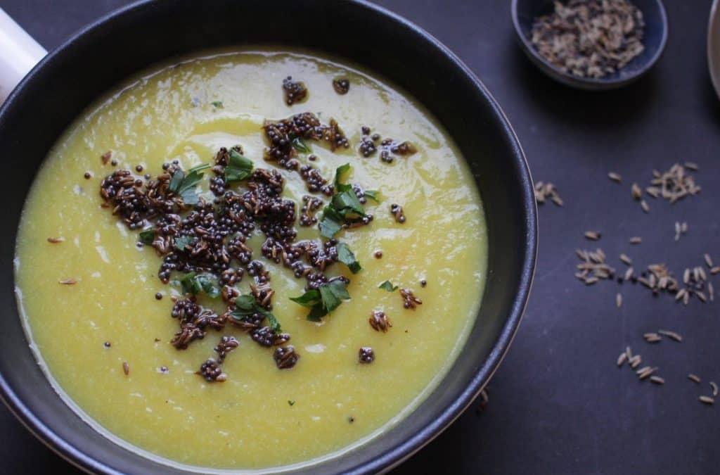 מרק קרם כרובית, טבעוני ומשגע, בניחוחות הודיים אותנטיים