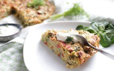 פריטטה טבעונית – מאפה ירקות פיקנטי, ללא גלוטן וללא סויה
