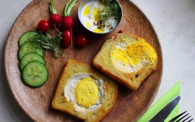 ביצה בקן – כן כן, טבעונית, ארוחת בוקר מושלמת