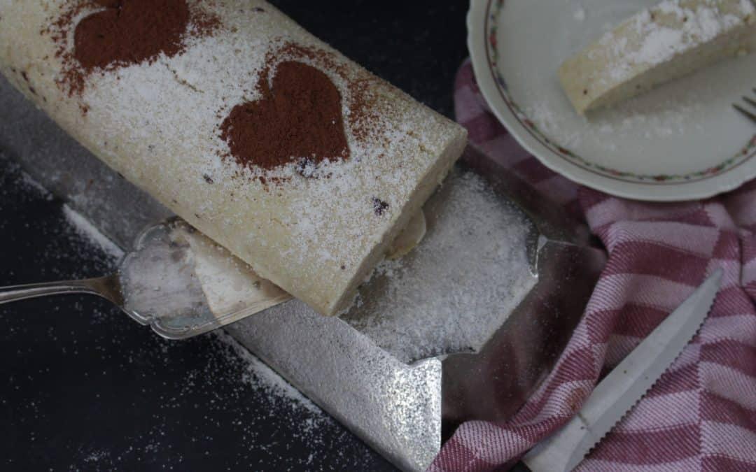 רולדה של פעם, טבעונית – ממולאת קרם וניל ופתיתי שוקולד