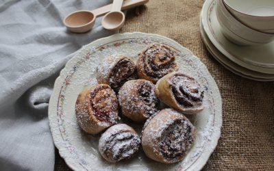 עוגיות מגולגלות, פשוטות ומהירות הכנה, מקמח כוסמין ושיפון מלאים