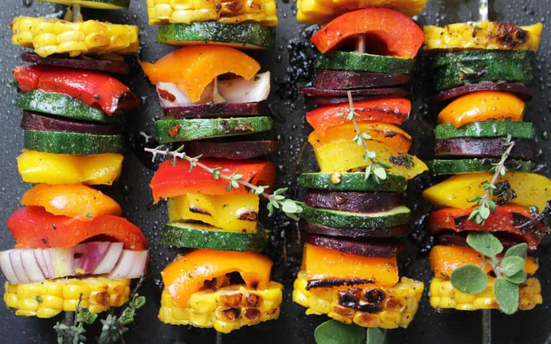 שיפודי ירקות בגריל, במרינדת עשבי תיבול