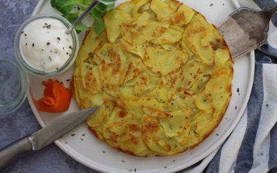 לביבת תפוחי אדמה ענקית, בסגנון רושטי השוויצרי, הכי הכי פשוטה ומפנקת