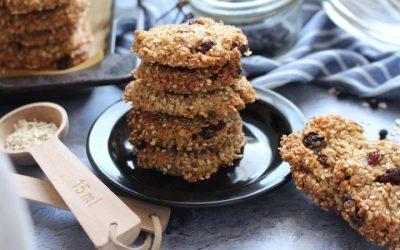 עוגיות קוואקר (שיבולת שועל) טבעוניות – מ 5 מצרכים בלבד!