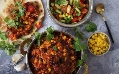 צ'ילי קון קרנה טבעוני – הכי מהיר, מזין, ססגוני