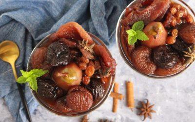 קומפוט – ליפתן פירות ארומטי, משולב פירות טריים ומיובשים