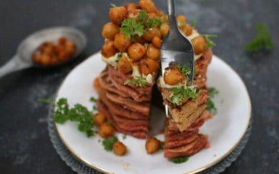 פנקייק חומוס – טבעוני, ללא גלוטן, מ 2 מצרכים בלבד!!! חלופה לארוחת ניגוב חומוס…