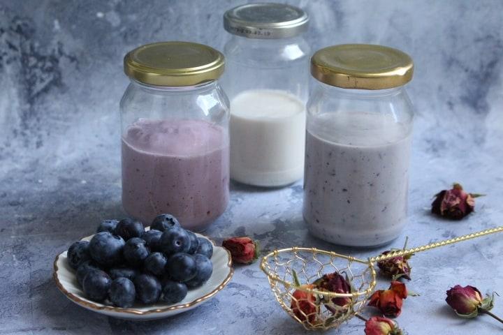 יוגורט קשיו פרוביוטי – מותסס, בטעמי תות, אוכמניות ווניל