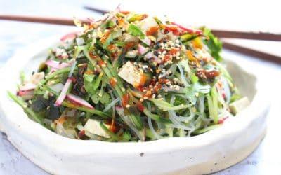 סלט יפני – סלט שהוא ארוחה, יש בו הכל, טבעוני צבעוני וססגוני