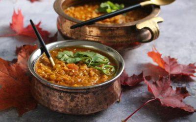 מרק עדשים צהובות – בניחוחות הודיים