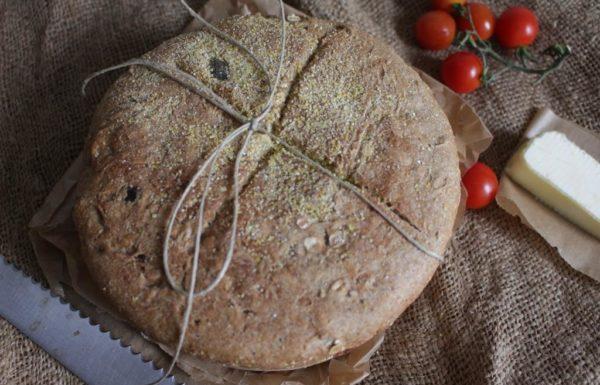 לחם בריאות, נאפה בסיר, עשיר בדגנים מלאים וכל טוב בו